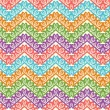 Colorful zigzag seamless pattern. Chevron vector background — Stock Vector