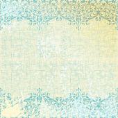 Vector ilustración vintage fondo floral beige y turquesa — Vector de stock