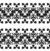 Set of black lace borders isolated on white — ストックベクタ