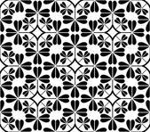 Illustrazione vettoriale di seamless pattern in bianco e nero — Vettoriale Stock