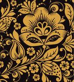 Hohloma floral pattern — Stock Vector