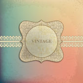 Card design with vintage background — Stock Vector