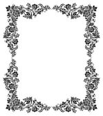 Black and white vintage frame — Stock Vector