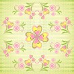 Flower heart stripe seamless pattern — Stock Vector #6050095