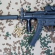 Submachine gun MP5 with silencer — Stock Photo #23228436