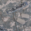 Uniform with blank dog tags - ストック写真