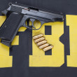 Fbi gun — Stock Photo #23229698