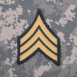 Stock Photo: Us army uniform sergeant rank patch