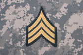 Us army uniform sergeant rank patch — Stock Photo