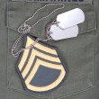 Stock Photo: Us marines uniform with blank dog tags