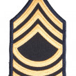 Stock Photo: Us army sergeant rank patch