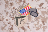 US FLAG badge and icons — Stock Photo