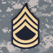 Us army uniform with sergeant rank patch — Stock Photo