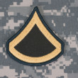 Us army uniform private rank patch — Stock Photo