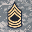 Stock Photo: Us army uniform with sergeant rank patch