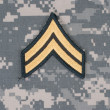 Us army uniform with corporal rank patch — Stock Photo