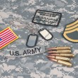 US ARMY concept with camouflage uniform — Stock Photo