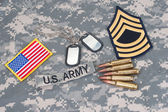 US ARMY concept with camouflage uniform — Stockfoto