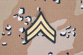 Us army uniform sergeant rank patch — Stock Photo