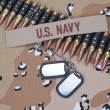US NAVY concept on camouflage uniform — Stock Photo #39123291