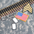 US ARMY concept on camouflage uniform — Stock Photo #39123485
