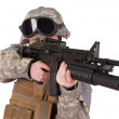 US soldier with assault rifle — Stock Photo #45019193