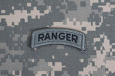 US ARMY ranger tab — Stock Photo
