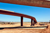 Loop 303 Bridge Interchange Section Near Completion — Stock Photo
