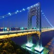 George Washington Bridge in New York - Stock Photo