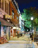 College Town Sidewalk — Stock Photo