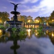 Central Park Fountain - Stock Photo