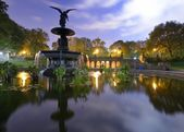 Central park brunnen — Stockfoto