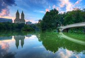 The Lake in Central Park New York City — Stock Photo