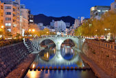 Nagasaki's Megane Bridge — Stock Photo