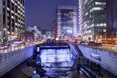 Cheonggyecheon in Seoul — 图库照片