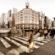ginza crossing — Stock Photo