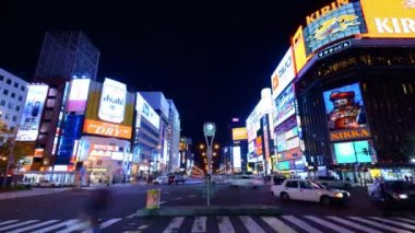 Sapporo Night Life District — Stock Video
