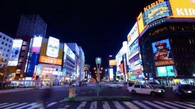 Sapporo Night Life District — Stock Video