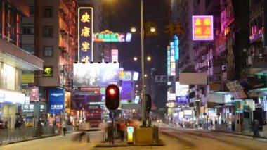 Nathan Road in Hong Kong — Stockvideo