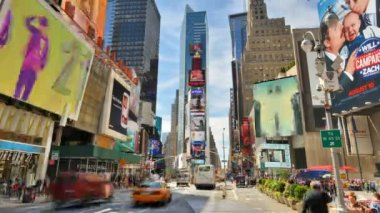 Times Square, New York Time Lapse — Stock Video
