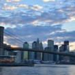 Brooklyn Bridge and Downtown New York City — Stock Video