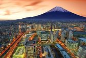 Yokohama and Fuji — Stock Photo