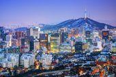 La ciudad de seúl — Foto de Stock