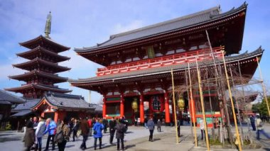 Senso-ji Temple in Asakusa, Tokyo — Stock Video