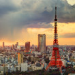 Tokyo Tower and Skyline — Stock Photo