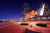 Pepsi-Cola Sign at Gantry Plaza State Park — Stock Photo