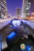 Cheonggyecheon Stream in Downtown Seoul — Stock Photo