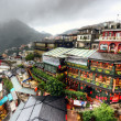Stock Photo: Jiufen Hillside Teahouses