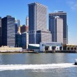 New York Harbor Skyline — Stock Photo