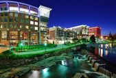 Downtown Greenville, South Carolina — Stock Photo